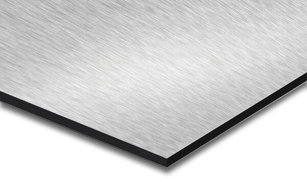 Geborsteld aluminium dibond