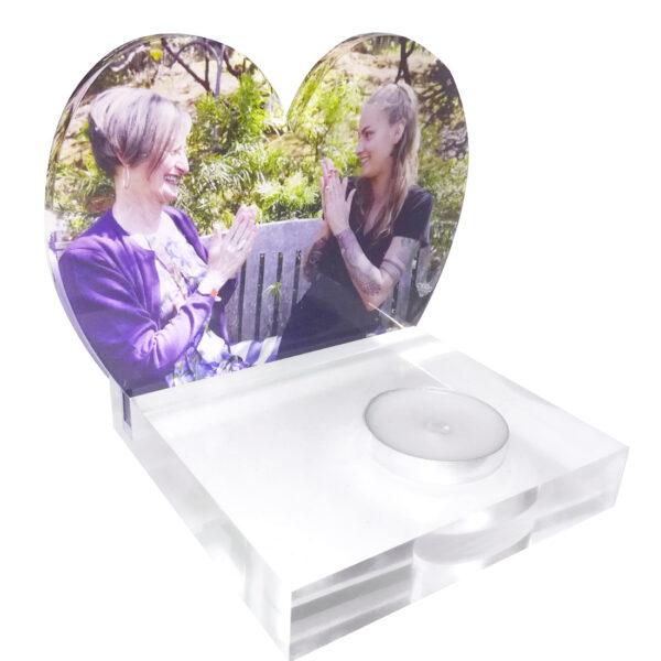Waxinelicht foto hartvorm