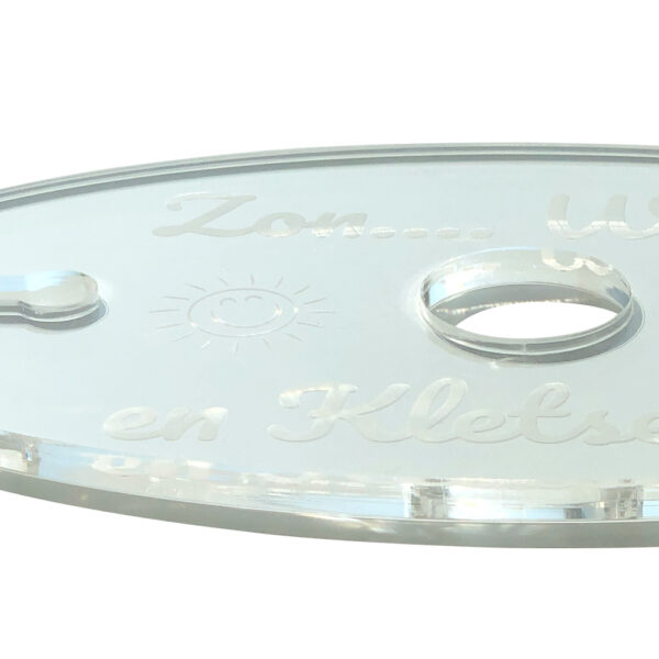 Wijnglashouder voor wijnfleshals plexiglas detail