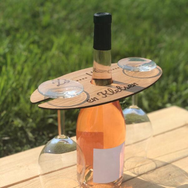 Wijnglashouder voor wijnfleshals sfeer